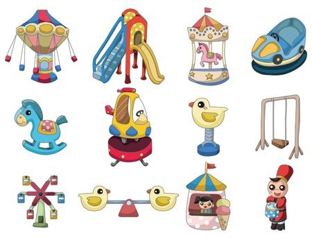 cartoon playground icon Vector