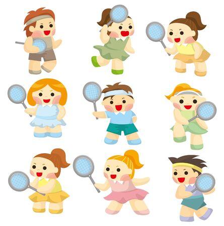 만화 테니스 선수 아이콘