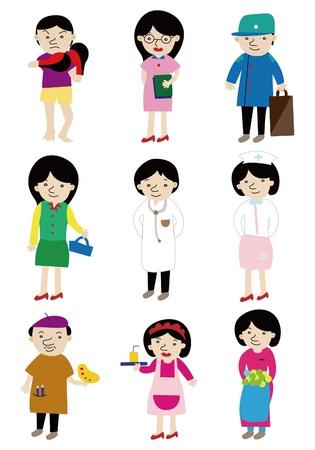 job icon: cartoon people job icon
