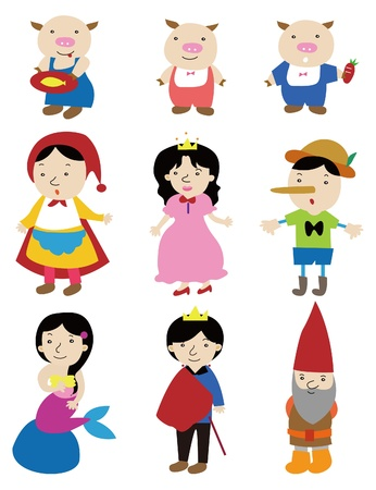 cartoon story people icon Vector