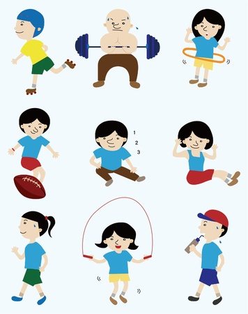 cartoon sport player people icon Vector