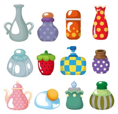 kettles: icono de botella de dibujos animados
