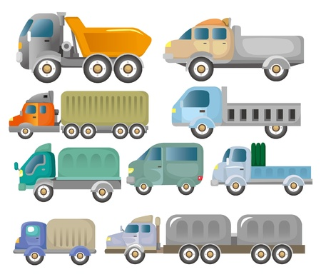 cartoon truck icon Vector