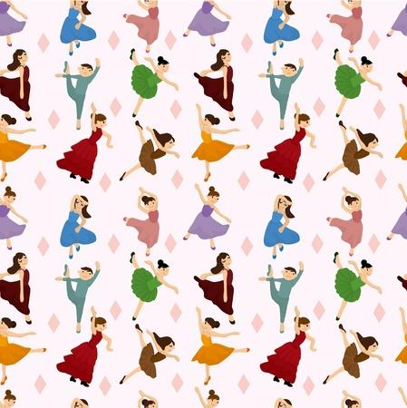 ballerina danza classica: Seamless pattern di Ballet dancer