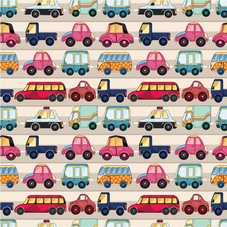 nahtlose Cartoon Auto Muster