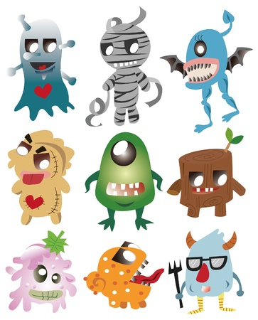 funny monster: cartoon monster icon