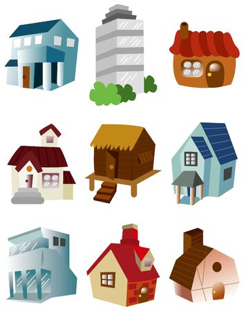 cartoon house icon Stock Vector - 9423317