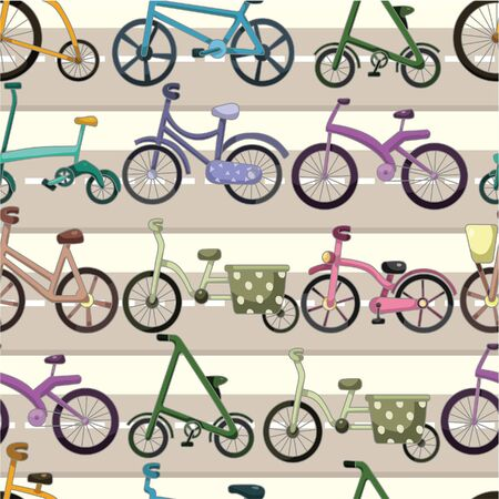 seamless bicycle pattern Stock Vector - 9423385