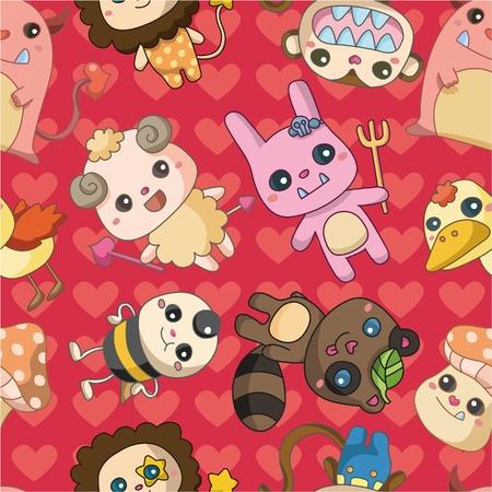 wrappers: cartoon animal icon Illustration