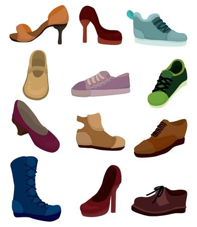 running shoe: icona di scarpe di cartone animato Vettoriali