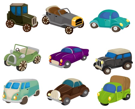 cartoon retro car icon Vector