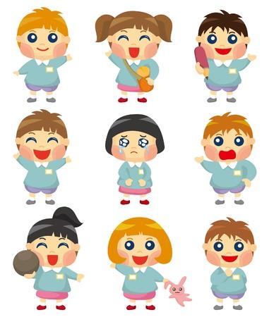cartoon kid icon Stock Vector - 9445223