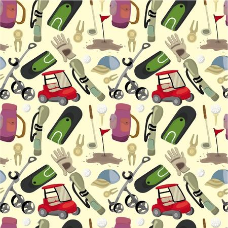 golf cart: seamless cartoon golf game pattern