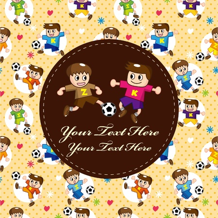 football party: cartoon soccer player card
