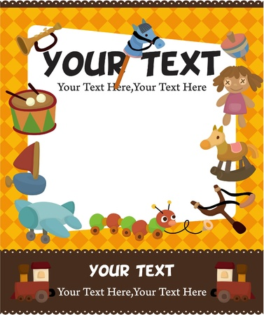 cartoon kid toy card Stock Vector - 9445221