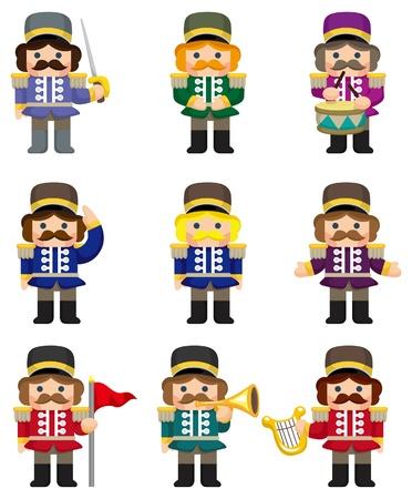 arpa: icono de soldados de juguete de dibujos animados