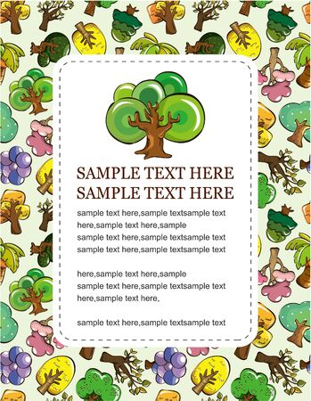 cartoon tree card Stock Vector - 9445307