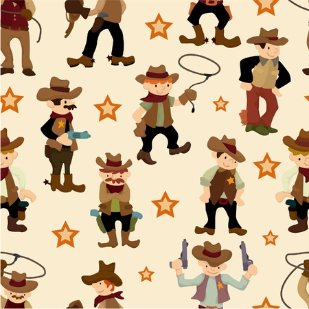 riding boot: seamless west cowboy pattern Illustration