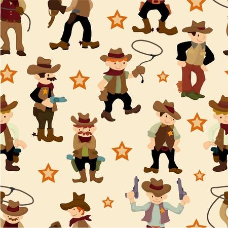 bucking horse: seamless west cowboy pattern Illustration
