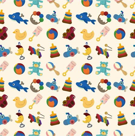 cartoon kid toy seamless pattern Vector