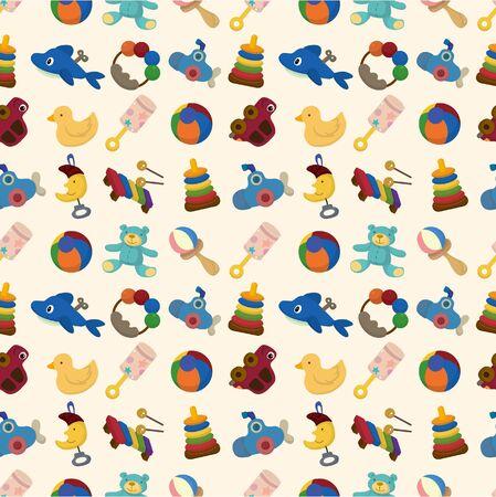 cartoon kid toy seamless pattern Vector