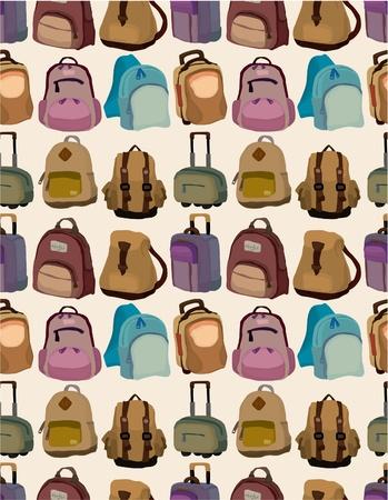 cartoon bag set seamless pattern