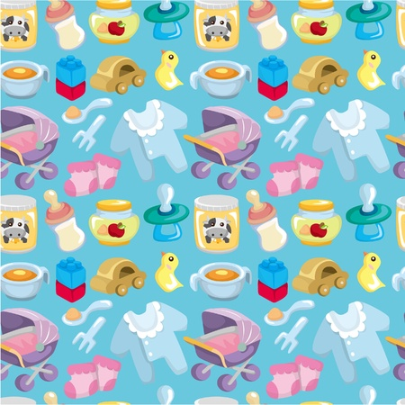 baby girl background: cartoon baby good seamless pattern