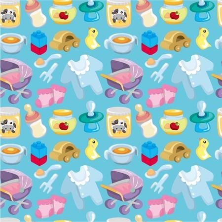 baby biberon: Cartoon bambino buono seamless pattern