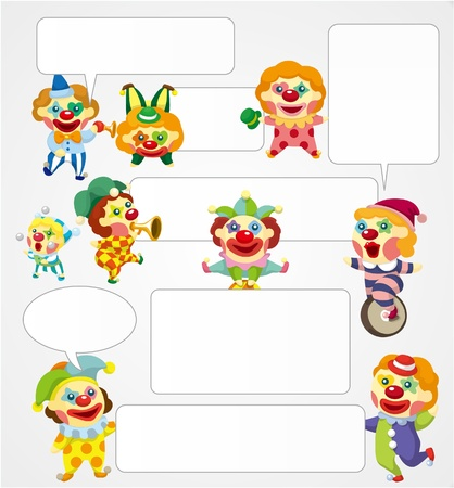 cartoon clown speech Stock Vector - 9477451