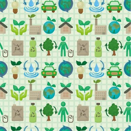 icono ecologico: patr�n de icono de eco transparente Vectores