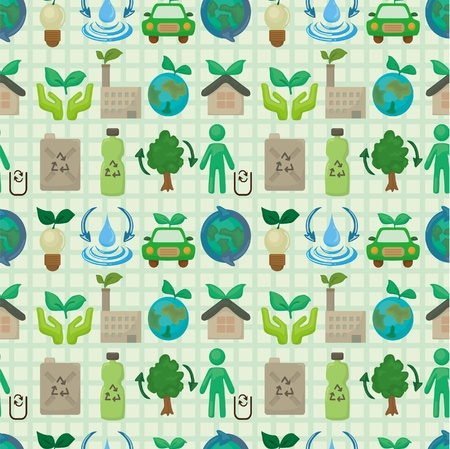 flower power: seamless eco icon pattern
