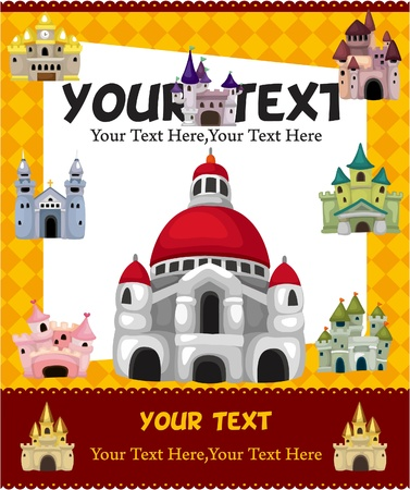 cartoon castle card Stock Vector - 9477499