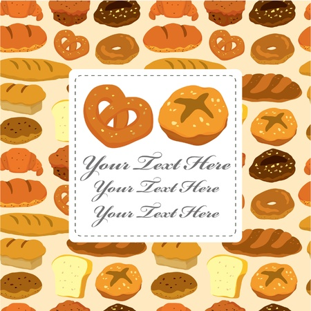 biscuits: cartoon bread card Illustration