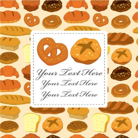 holiday cookies: tarjeta de pan de dibujos animados