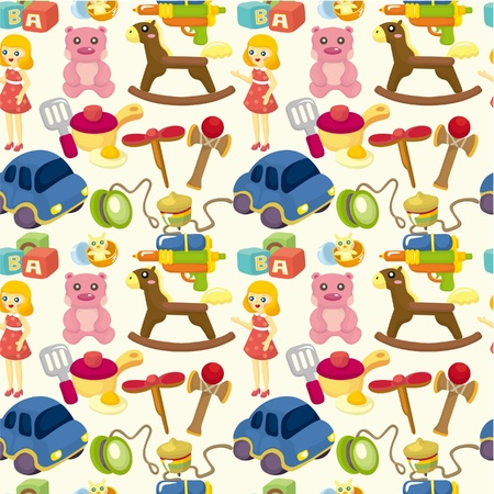 cartoon child toy seamless pattern Vector