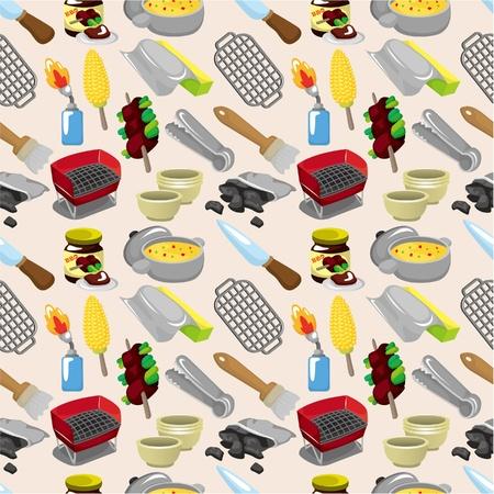 cartoon BBQ seamless pattern Stock Vector - 9477541