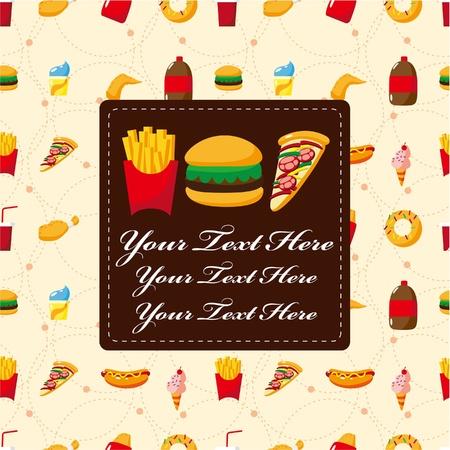 cartoon fast food card Stock Vector - 9477531