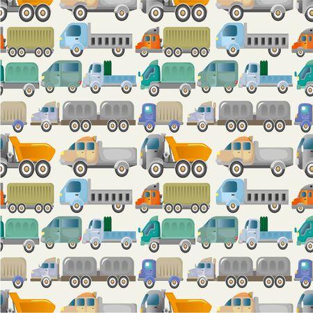 seamless truck pattern Vector