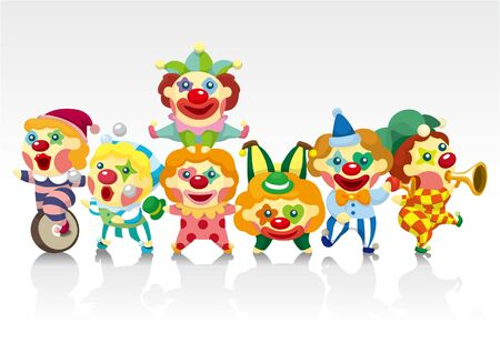 cartoon clown card Vector