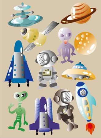 cartoon space icon Stock Vector - 9525790