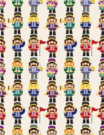 cartoon Toy soldier seamless pattern Vector