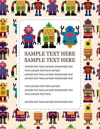 cartoon robot card Stock Vector - 9525798