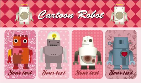 cartoon robot card Vector