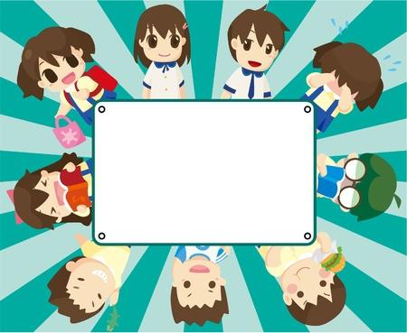 cartoon student card Vector