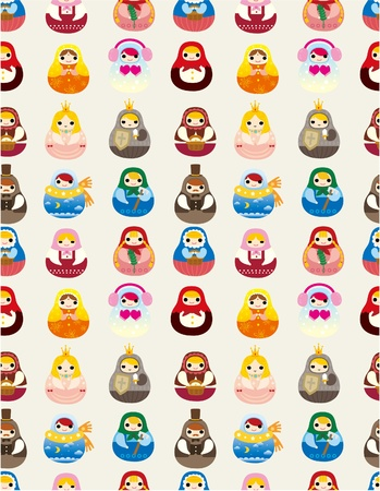 seamless Russian doll pattern Stock Vector - 9598537