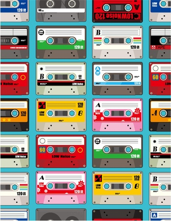 music tape seamless Vector