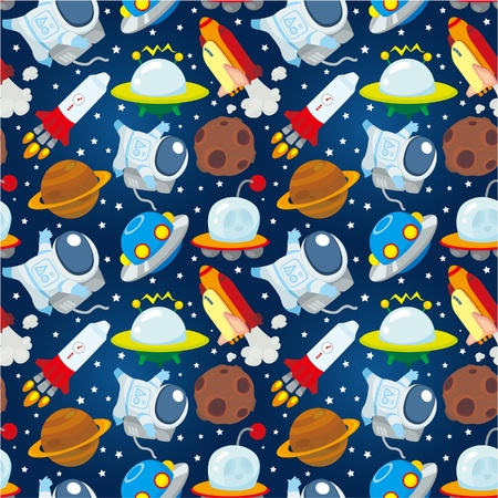 seamless space pattern Vector