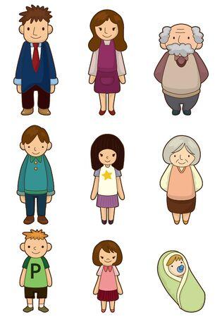 grandchild: cartoon family icon