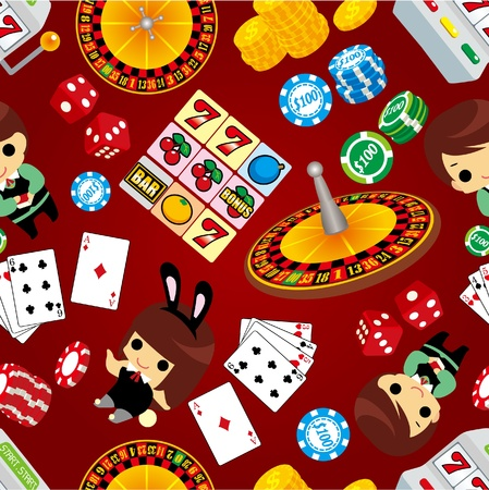 gambling wheel: seamless casino pattern