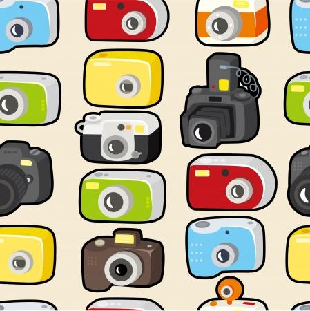 seamless camera pattern Stock Vector - 9598554